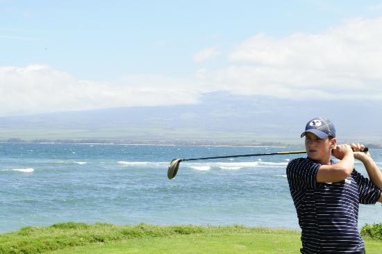 Waiehu Golf Course: Tee box on the Ocean