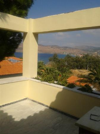 Alma Hotel: Aussicht vom Balkon Zimmer 310