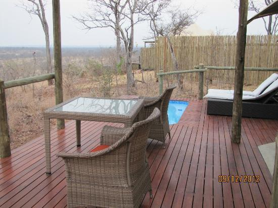 The Elephant Camp: Private deck and pool