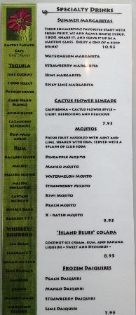 Cactus Flower Cafe: Full Bar! Check out our drinks!