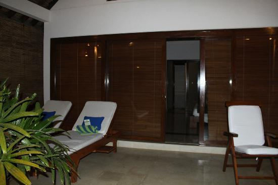 Siddhartha Ocean Front Resort & Spa: villa's patio with sunbeds