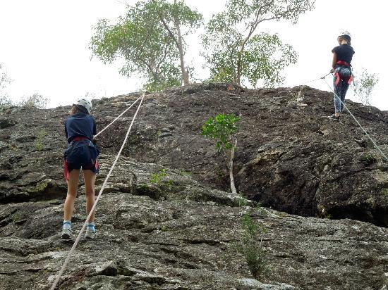 Mt Barney Lodge Country Retreat: Beginner Rock Climbers at the top