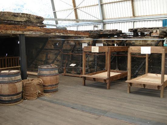 Edwin Fox Maritime Museum: Try out the replica bunks and have a go at knot tying or even a game of quiots!