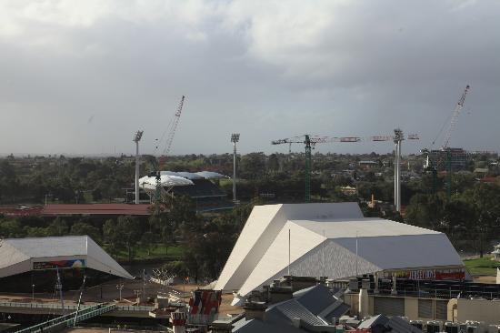 Stamford Plaza Adelaide: Adelaide Oval under refurbishment