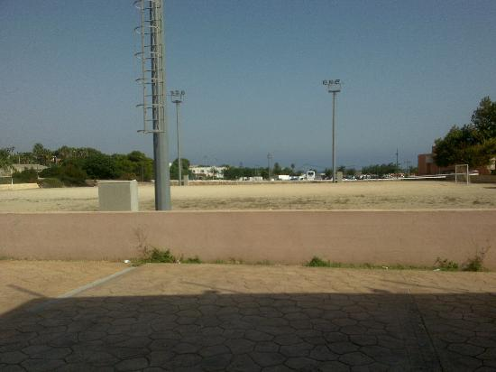 "Punta Prima, Spanien: View from outside dining area ""carpark"" like."