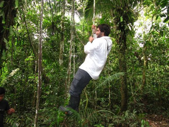 Renaco Lodge: Doing Tarzan - Oooooooohoo