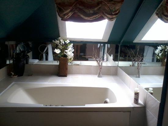 Maplehurst Inn: Jacuzzi with Skylight