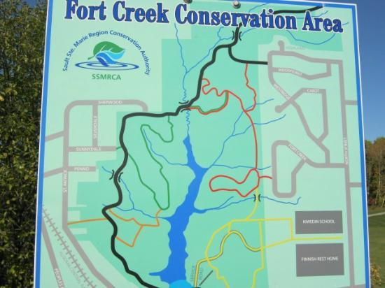 Fort Creek Conservation Area : Map of the park
