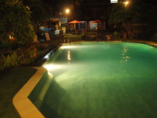 Ida Hotel: night time pool