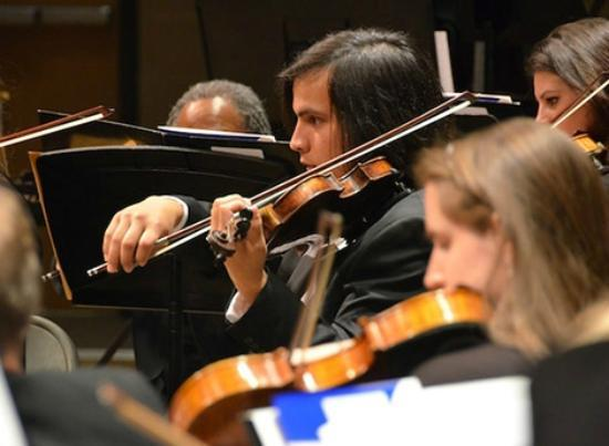 "Northern Dutchess Symphony Orchestra: String section in 2012 Pops Concert, ""British Invasion"""