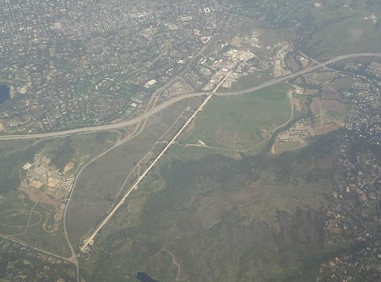 Menlo Park, Californien: SLAC from the air