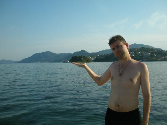 Corfu Holiday Palace: Понтиконисси на ладони