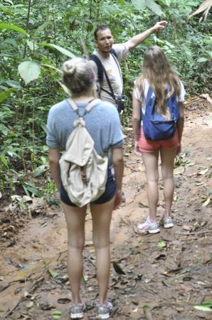 Crocodile Bay Resort: Dennis guiding us through the Rainforest