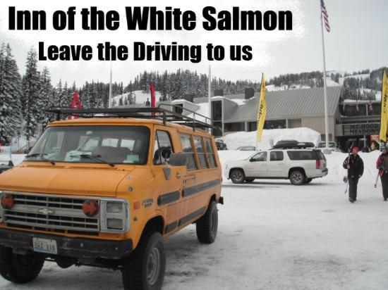 Inn of the White Salmon: The Hotel's 4x4 Shuttle Van to Mt. hood Meadows