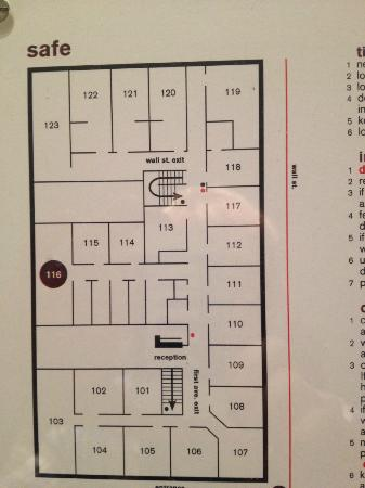 Ace Hotel: Floorplan