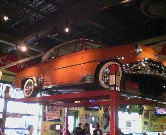 Old Car On Hoist Picture Of Quaker Steak Lube Council Bluffs