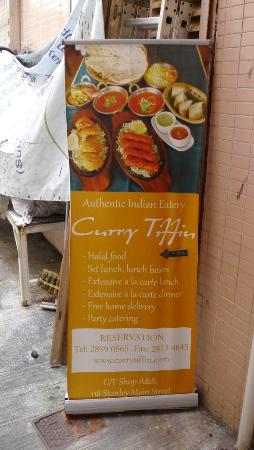 Curry Tiffin sign