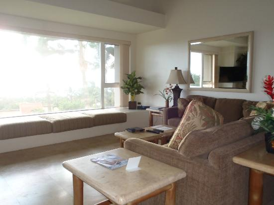 Palms at Wailea: living room with big window
