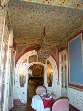 Palacete Chafariz D'El Rei: saletta della colazione