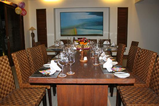 Saba Villas: Tables set up for birthday party at Yudhistira