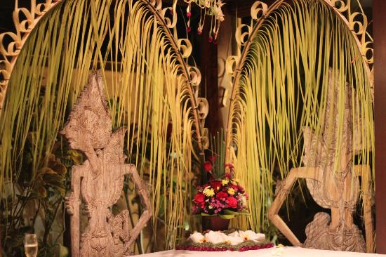 Saba Villas: Balinese decorations for a party at Yudhistira