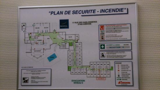 Novotel Amboise: ground floor map