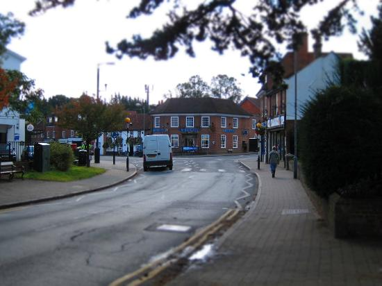 The Greyhound Inn: area around the hotel