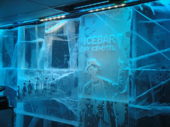 Hotel C Stockholm: inside the ice bar