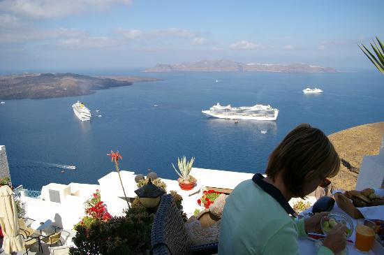 Hotel Kavalari: Great Breakfast views