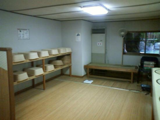 Ryokufuen: 男性大浴場脱衣所