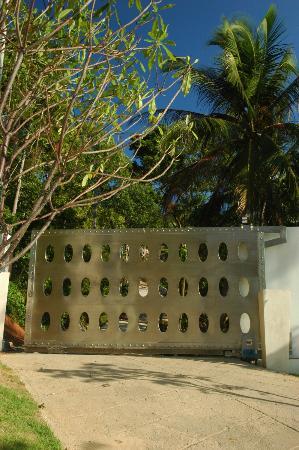 Villa Beige: Steel automatic gate door.