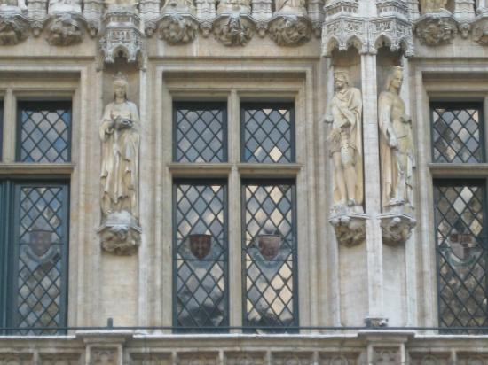 Town Hall (Hotel de Ville): Mix of statues and windows. Amazing detail