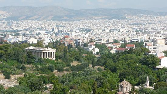Philopappos Hill : view over Athens