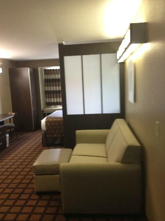 Microtel Inn and Suites by Wyndham Austin Airport: Suite sitting area