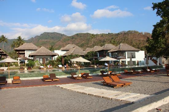 Living Asia Resort and Spa Lombok: View from the beach