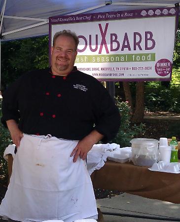RouXbarb : Chef Bruce Bogartz at the Downtown Farmer's Market