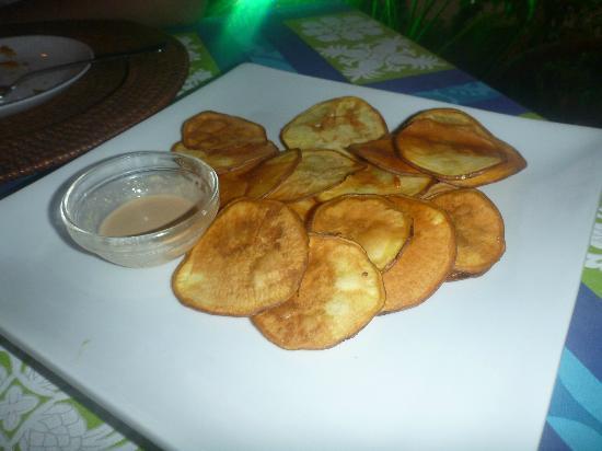 Restaurant Kanahau : Chips de camote (batata) - Excelente entrada