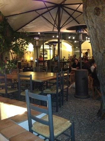 Pizzeria Pizzeta : Inside/outside dining - we were inside to avoid smokers