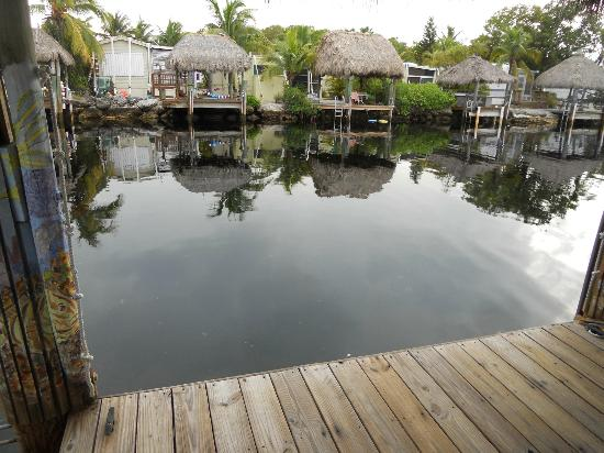 Key Largo Kampground and Marina: view from waterfront rental site