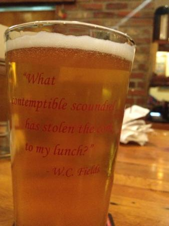 Brick Oven Pizzeria and Pub : every glass has a witty quote