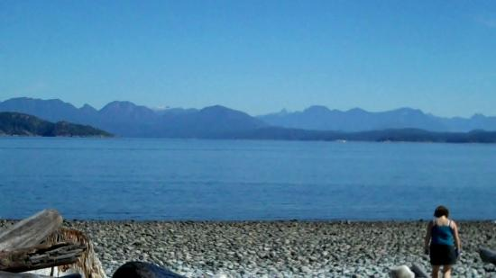 Seascape Waterfront Resort: Rebecca Spit Provincial Park 10 minutes away