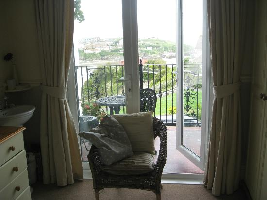 Tregella Hotel Newquay: Double room with balcony