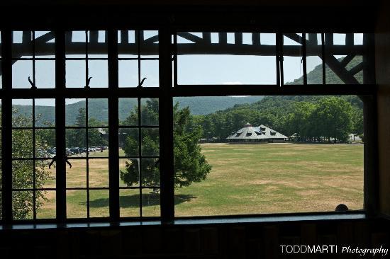 Bear Mountain Inn: The Merry-Go-Round Pavilion from the second floor Restaurant