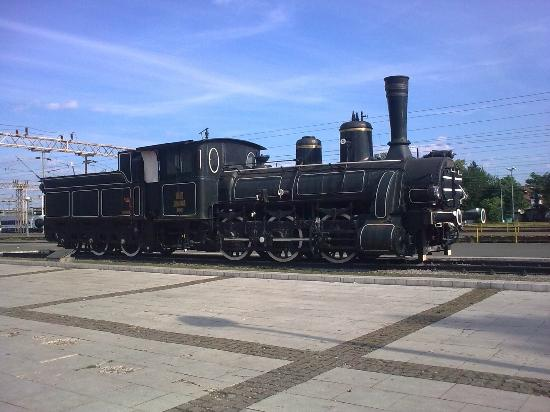 Hotel Central: Marshal Tito's train, opposite the hotel