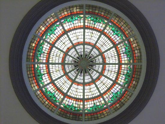 Isle of Wight County Museum : Our stained glass dome is an architectural gem!