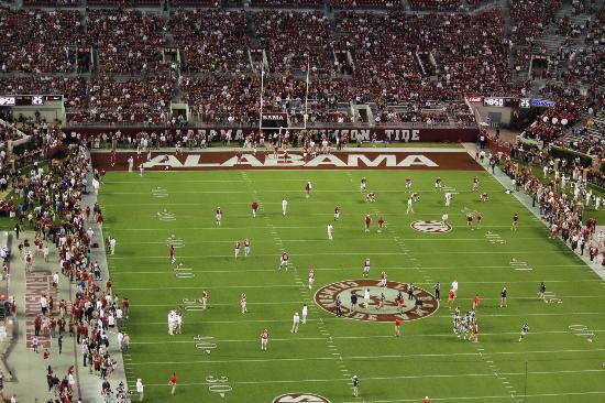 Bryant Denny Stadium: View from the bleachers of the home game Alabama vs Ole Miss. 2012