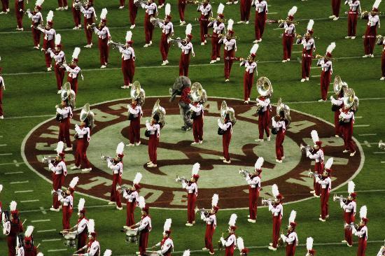 Bryant Denny Stadium: University of Alabama Marching Band with Mascot