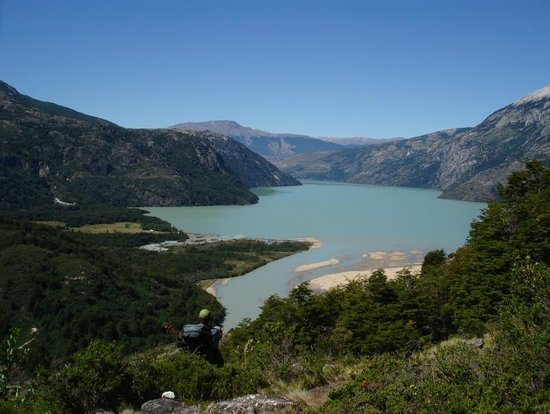 Patagonia Frontiers: view of Lago Plomo and the ranch from the West