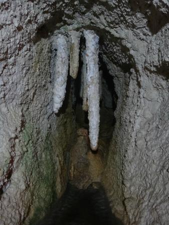 Large stalactites in Kfarhim Grotto