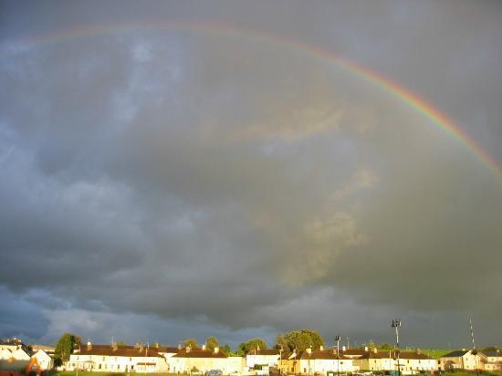 Coffey's River's Edge: huge rainbow!